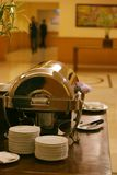 Coffebreak. Chafing dish for coffee break after meeting royalty free stock photos