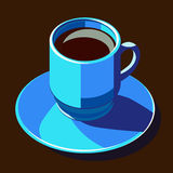 Coffecup blue Royalty Free Stock Photo