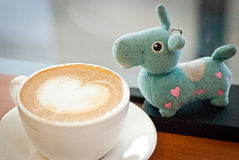 COFFEE &DOLL Royalty Free Stock Photography