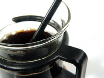 Coffee. Close Up Photo of Coffee in A Cup With Spoon stock photography