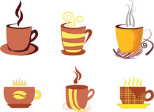 Coffee. And tea. Elements for design Stock Photography