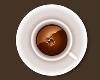 Coffee. Vector: a cup of coffee Royalty Free Stock Photos