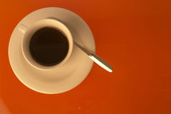 Coffee. Cofee cup and spoon Stock Photo