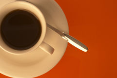 Coffee. Cup of Coffee and spoon stock image