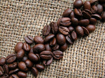 Coffee. Roasted coffee - beans Royalty Free Stock Photos