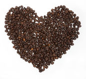 Coffee. Big heart on a white background Stock Photography