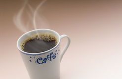 Coffee. Delicious cup of hot coffee and savory Stock Images