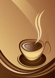 Coffee. Logo banner drawing aesthetics Vector Illustration