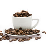 Coffee. Aromatic coffee isolated with white Stock Image