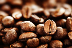 Coffee. Beautiful roasted Coffee beans background.Selective focus royalty free stock images