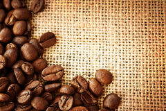 Coffee. Beautiful Coffee Beans border.With copy space stock photos