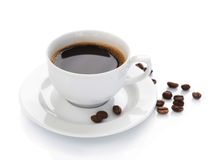 Coffee. Perfect image of Black Coffee in a White cup stock photography
