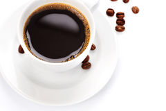 Coffee. Perfect image of Black Coffee in a White cup royalty free stock photos