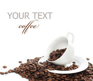 Coffee. Beautiful Coffee Concept.Isolated on white stock photos