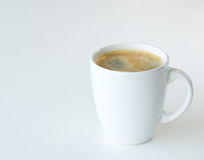 Coffee. Against a white background royalty free stock photo