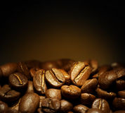Coffee. Beautiful roasted Coffee beans background.Selective focus royalty free stock photography