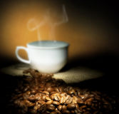 Coffee. Beautiful roasted Coffee beans .Selective focus royalty free stock image