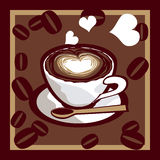 Coffee. Illustration of heart and coffee Royalty Free Stock Photo