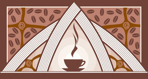 Coffee. Illustration of a cup of coffee. Vector Stock Photography