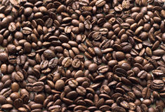 Coffee. Beans set out as background stock image