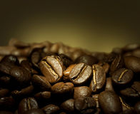 Coffee. Beautiful Roasted Coffee.Selective focus royalty free stock images