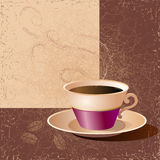 Coffee. Illustration of a cup of coffee. Vector Royalty Free Stock Image