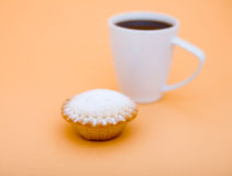 Coffee. A cup of coffee and cake Stock Image