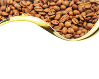 Coffee. Beans on white background Royalty Free Stock Photo