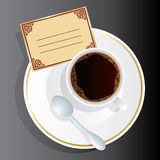 Coffee. Vector image of coffee appliance with an invitation Royalty Free Stock Images
