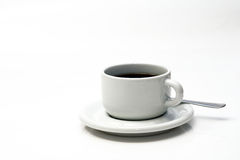 Coffee. A white cup of coffee Stock Images