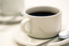 Coffee. A white cup of coffee Royalty Free Stock Images