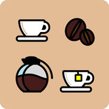 Coffee. Time.  and more vector illustration