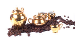 Coffee. Aroma; beans; coffee; cup; drink; flavour; jug; kettle; make; hot; breakfast; milk; sugar; pause still of live; africa; Brasil, china, porcelain stock photo