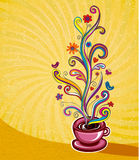 Coffee. Illustration which may be used as menu cover or card Royalty Free Stock Images