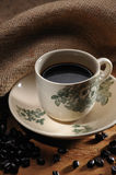 Coffee. A Hot Cup of Black Coffee Royalty Free Stock Images