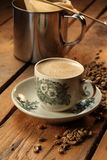Coffee. A cup of white coffee Stock Image