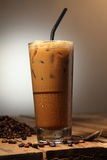 Coffee. A glass of ice coffee with water drops Stock Photo