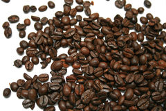 Coffee. Espresso coffee beans isolated on white background Stock Photography