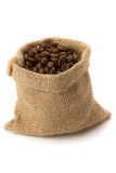 Coffee. Beans in burlap sack Royalty Free Stock Image