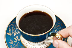 Coffee. Isolated cup of coffee on white background Royalty Free Stock Images