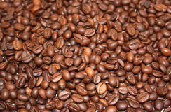 Coffee. Beans close up from above Royalty Free Stock Image
