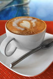 Coffee. A cup of coffew with heart shape topping Royalty Free Stock Photos