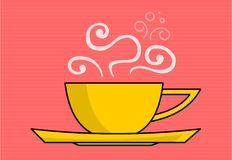 Coffee. A stylized illustration of hot coffee/tea cup Royalty Free Stock Photos