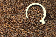Coffee. Beans with a cup Royalty Free Stock Images