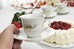 Coffee. Delicious, dessert, diet, dine, dinner, eat, food Stock Photography