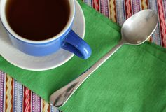 Coffee. Mexican style cup of black coffee Stock Photos