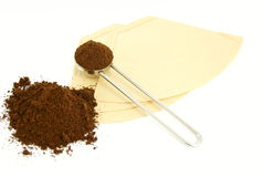 Coffee. Powder of a white background Royalty Free Stock Image
