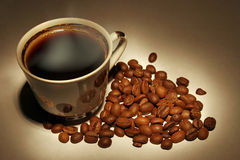 Coffee. Cup and  beans Royalty Free Stock Image