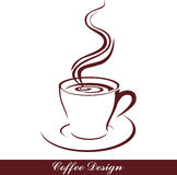 Coffee. Illustration of cup of coffee isolated Royalty Free Stock Photo