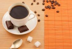 Coffee. Cup of coffee with chokolate Stock Image
